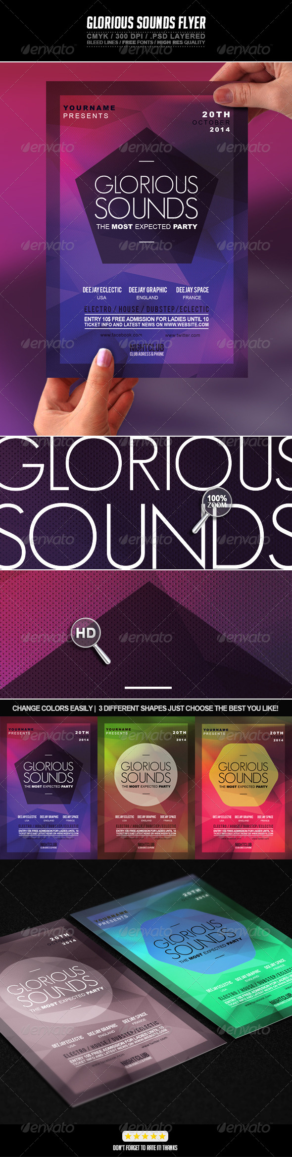 GraphicRiver Glorious Sounds Flyer 7167114