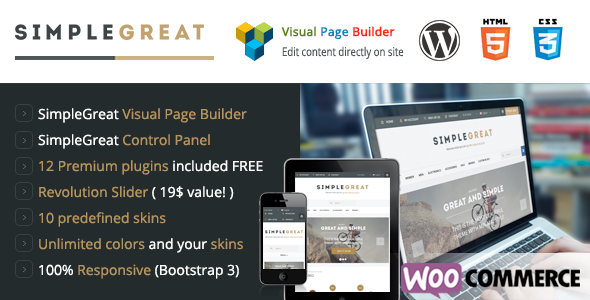 ThemeForest SimpleGreat Premium WordPress WooCommerce theme 7254130