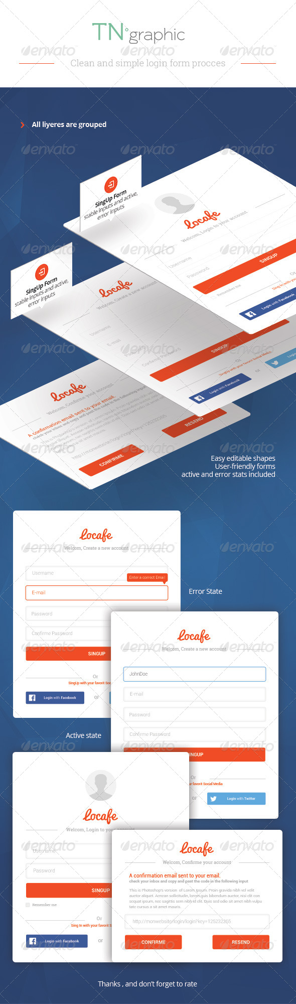 GraphicRiver PSD Login Form 7254308