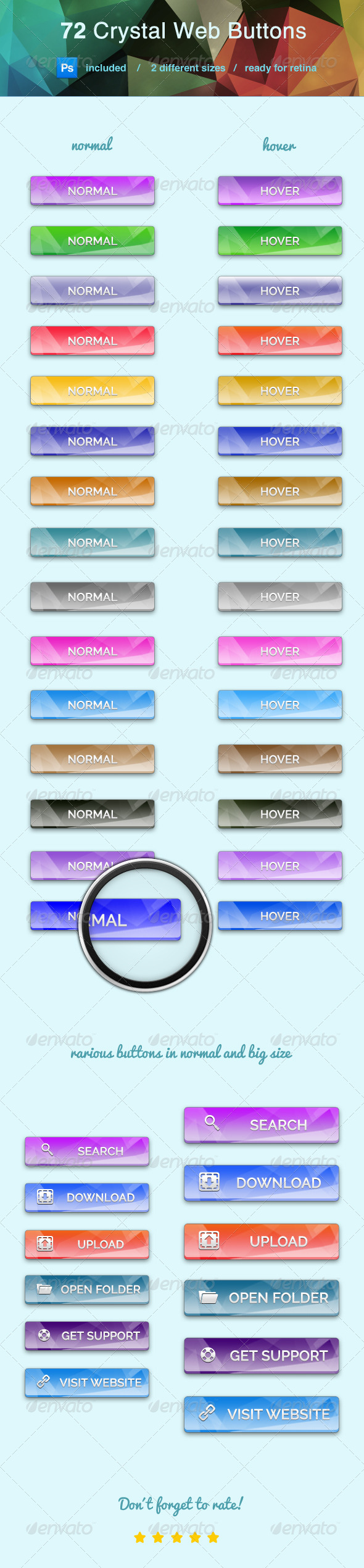 GraphicRiver Crystal Clear Web Buttons 7254562