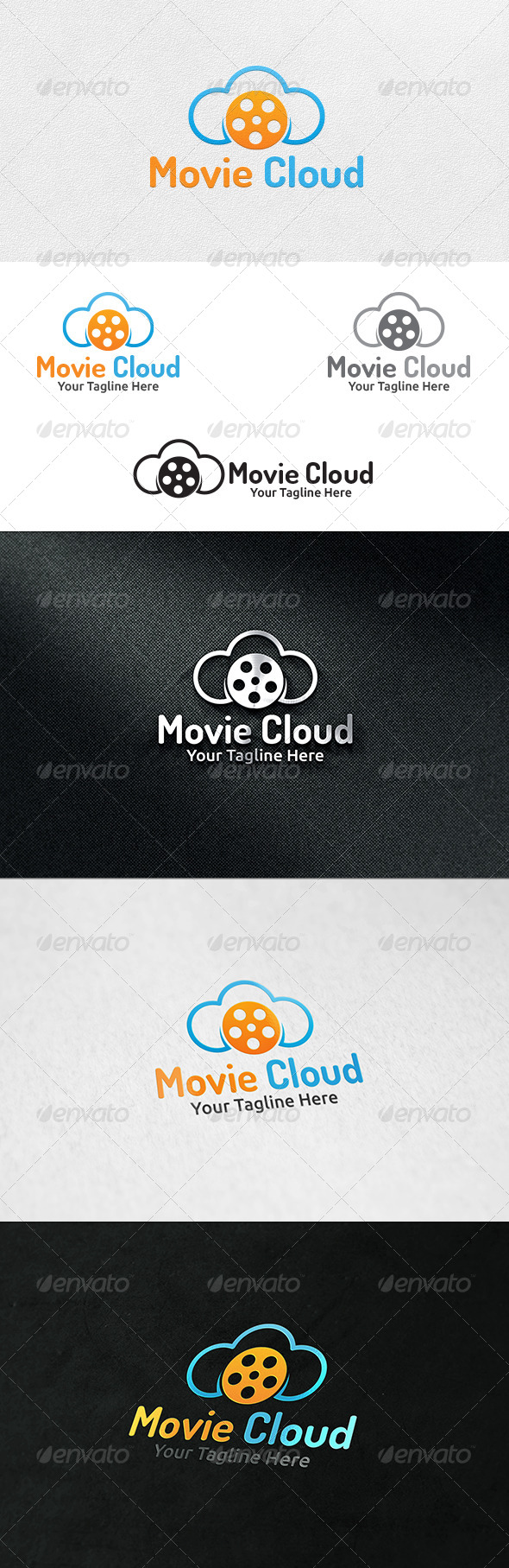 GraphicRiver Cloud Movies Logo Template 7254677