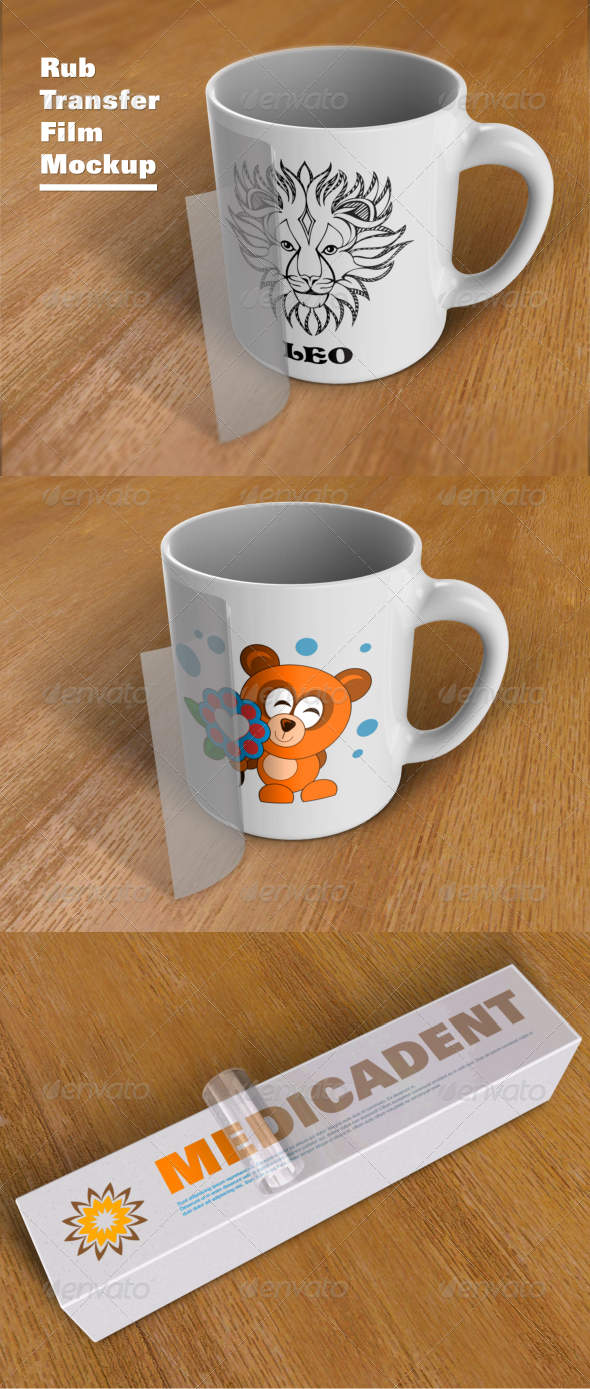 GraphicRiver Rub Transfer Film Mockup 7254770