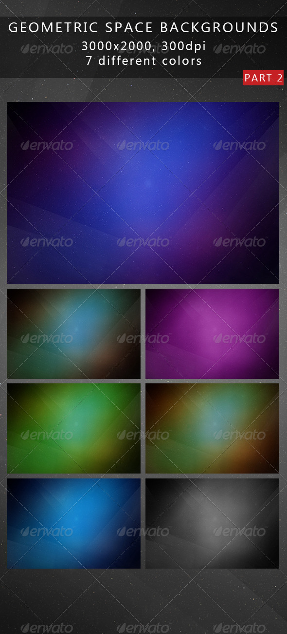 GraphicRiver Geometric Space Backgrounds 2 7255319