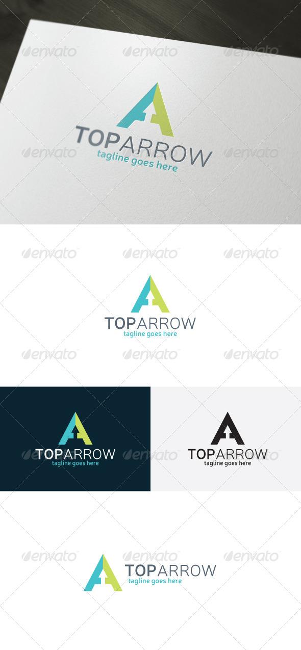 GraphicRiver Top Arrow Logo Letter A 7255339
