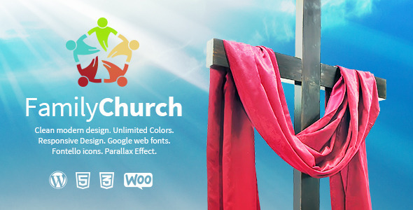 ThemeForest Family Church Religion Wordpress Theme 7255355