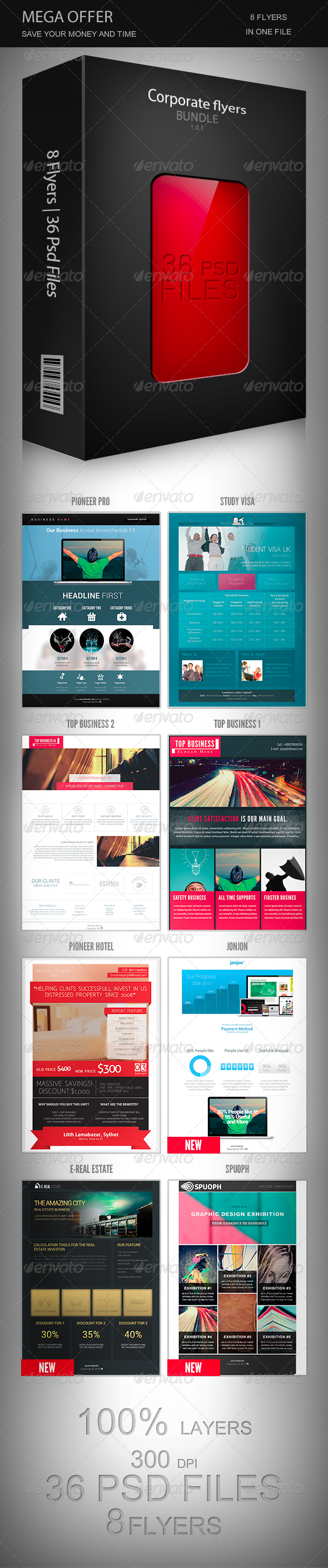 GraphicRiver Corporate Flyers Bundle 1.0.1 7213205