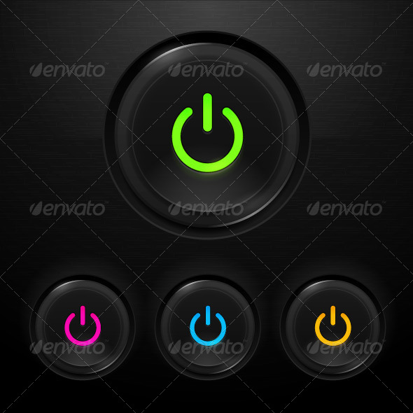 GraphicRiver Power Buttons 7255528