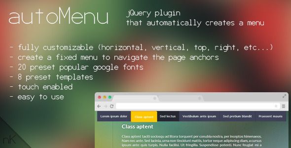 CodeCanyon Auto Menu 7255676