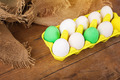 Beautiful Easter eggs in yellow carton - PhotoDune Item for Sale