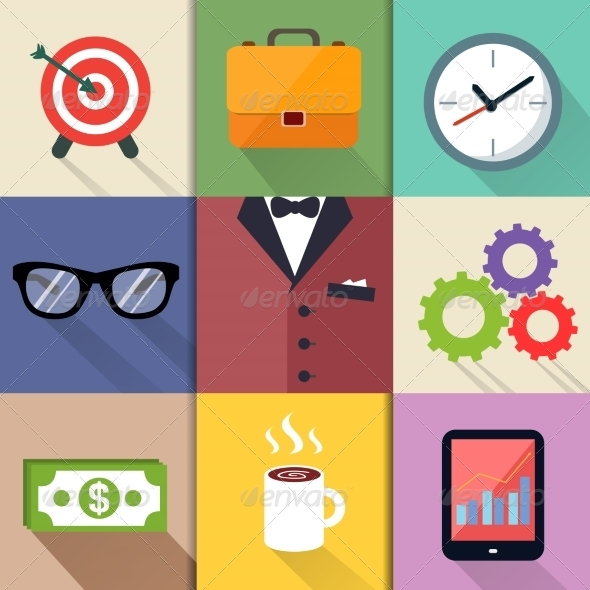 GraphicRiver Business Suits Icons Set 7256305