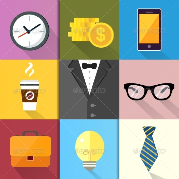 GraphicRiver Business Suits Icons Set 7256306