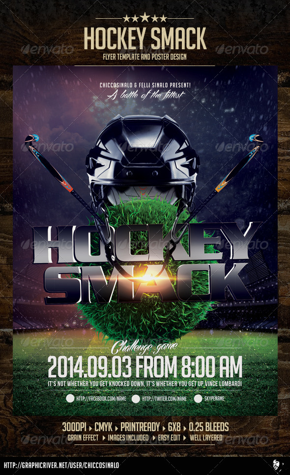 GraphicRiver Hockey Smack Flyer Template 7256376