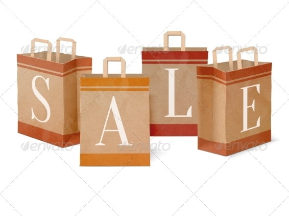 GraphicRiver Sale Paper Shopping Bags 7256383
