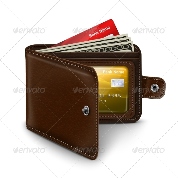 GraphicRiver Open Leather Wallet 7256392