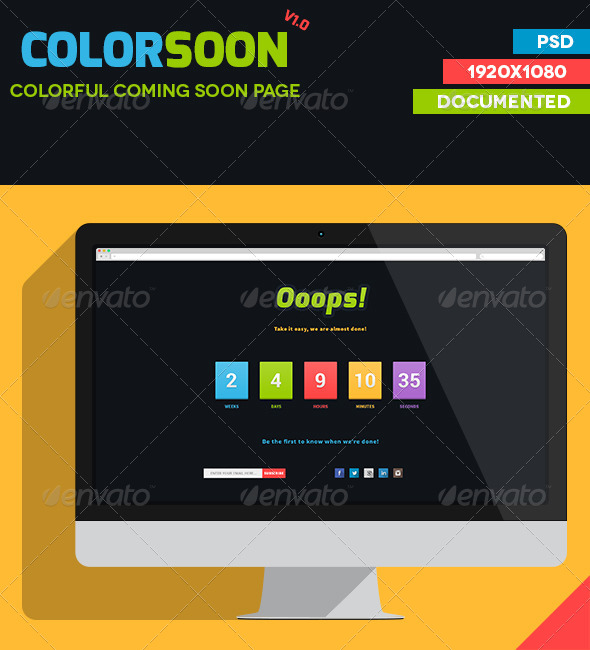 GraphicRiver Colorful Coming Soon Page 7256401