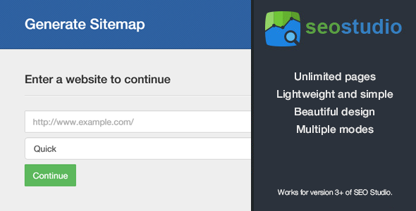 CodeCanyon Sitemap Generator Pro Add-on for SEO Studio 7256578