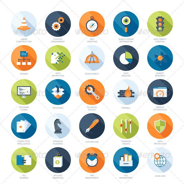 GraphicRiver SEO Icons 7256614