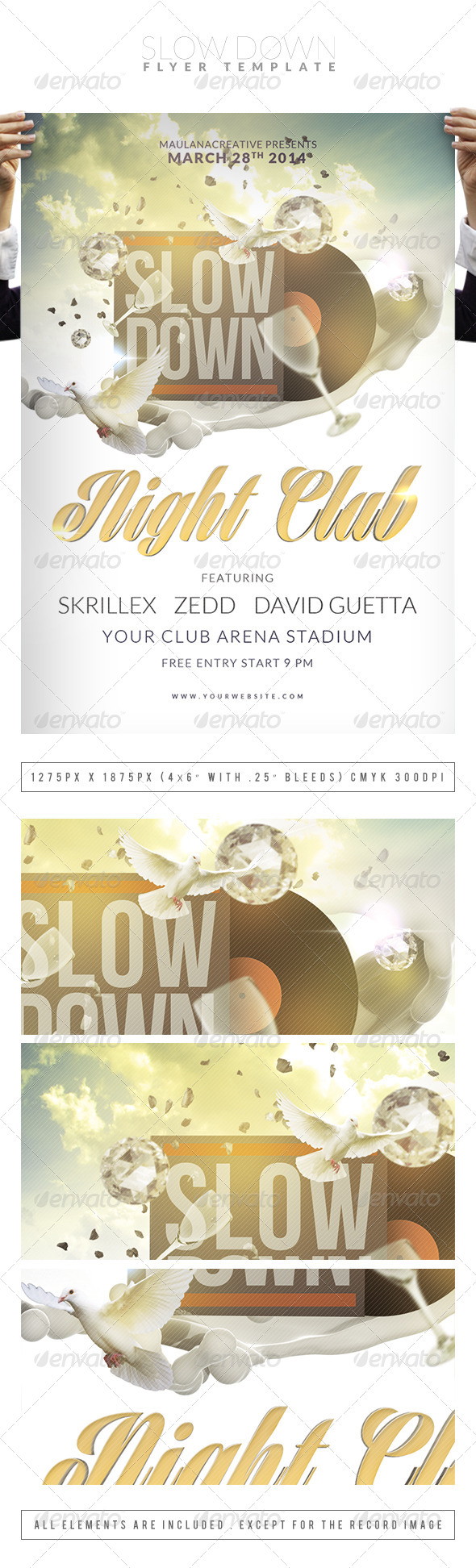 GraphicRiver Slow Down Flyer Template 7256971