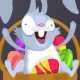 Easter Rabbits with Easter Eggs - GraphicRiver Item for Sale