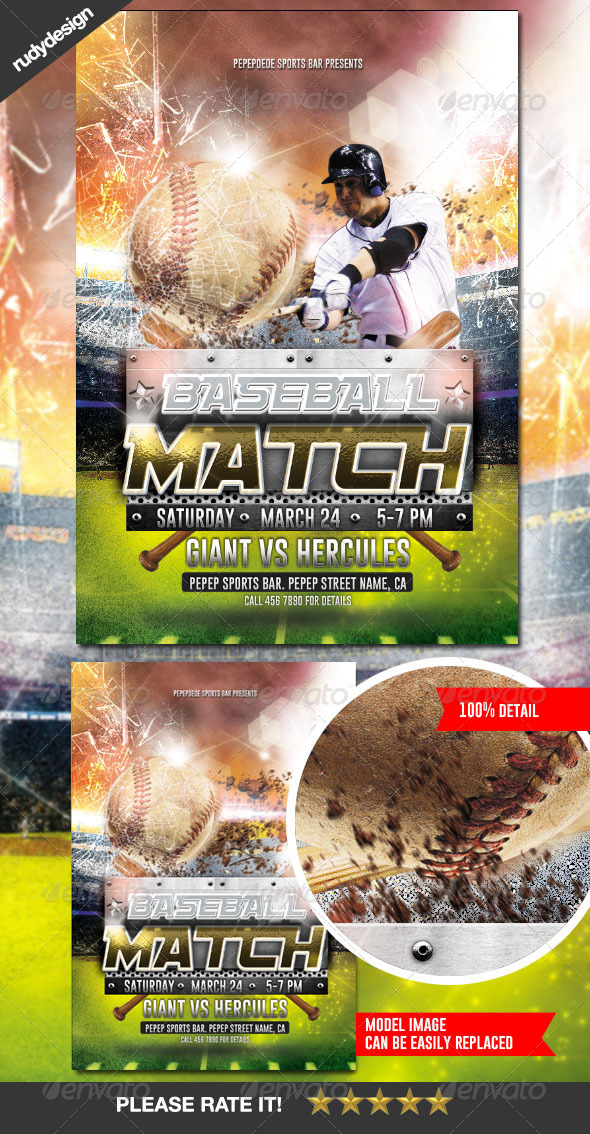 GraphicRiver Baseball Match Homerun Flyer Design 7158399