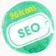 96 Modern Seo Services Icons - GraphicRiver Item for Sale