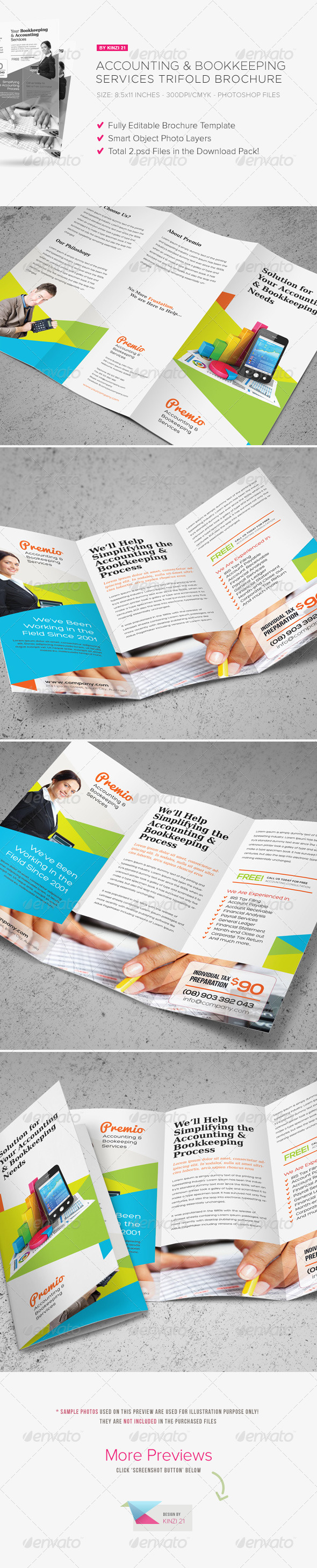GraphicRiver Accounting & Bookkeeping Services Trifold Brochure 7258190