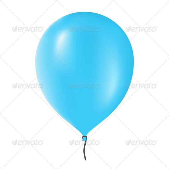 GraphicRiver Blue Balloon 7258285