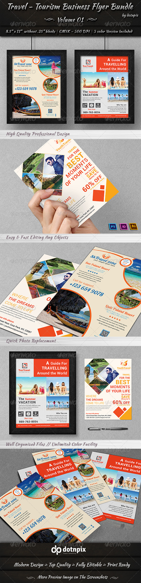 GraphicRiver Travel Tourism Business Flyer Bundle Volume 1 7258327