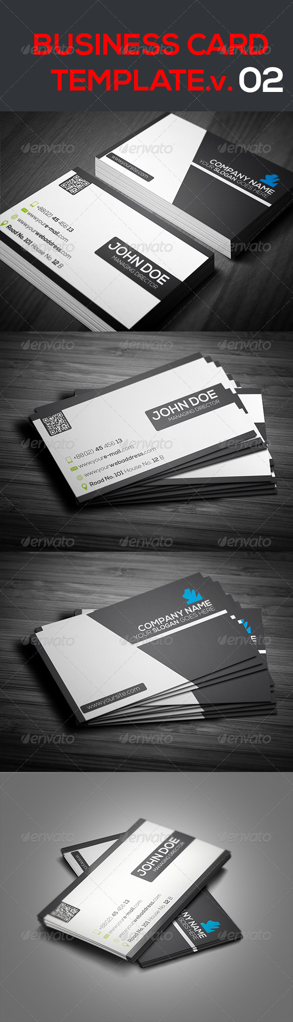 GraphicRiver Creative Business Card Template.V.02 7258352