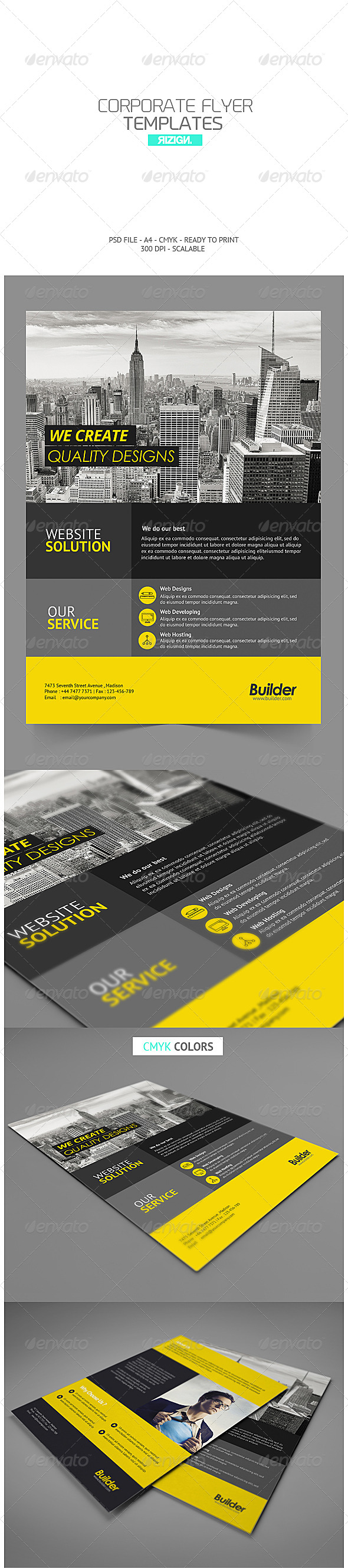 GraphicRiver Corporate Flyer 7258355