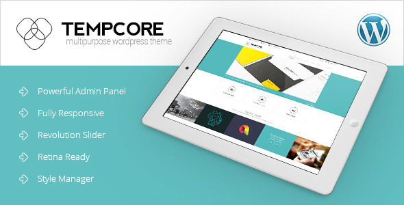 ThemeForest Tempcore Responsive WordPress Theme 7191298