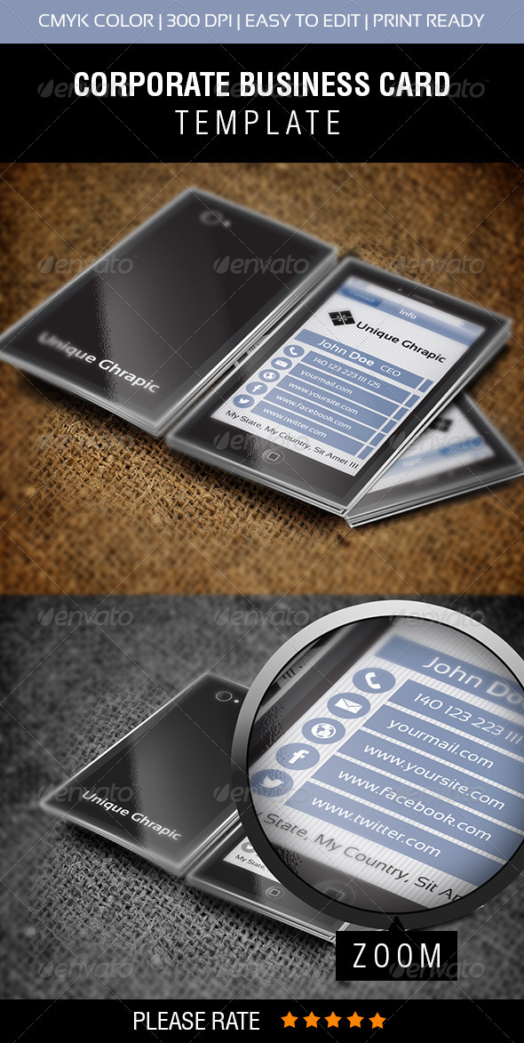 GraphicRiver Mobile Phone Vol-2 Business Card 7258477