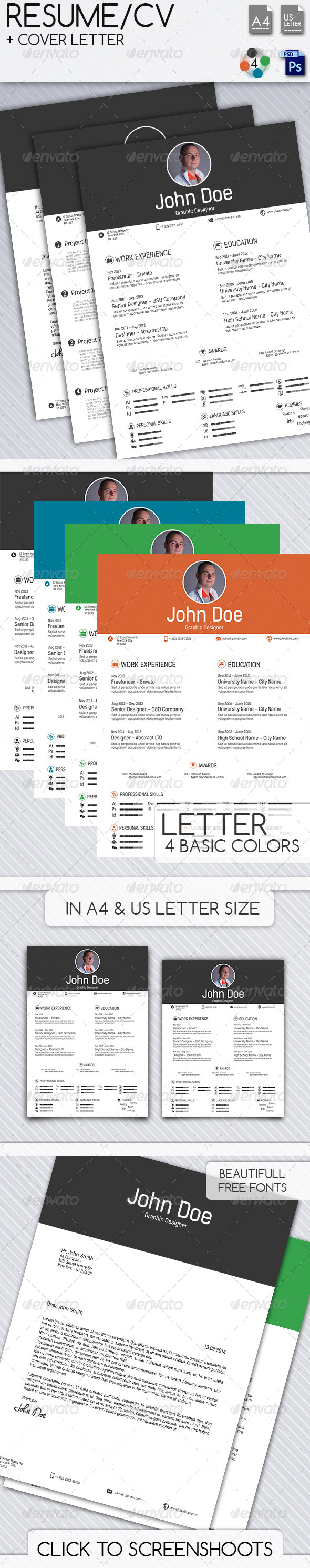 GraphicRiver Resume CV Cover Letter 7258604