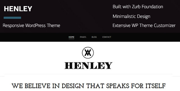 ThemeForest Henley Wordpress Portfolio Blogging Theme 7214851