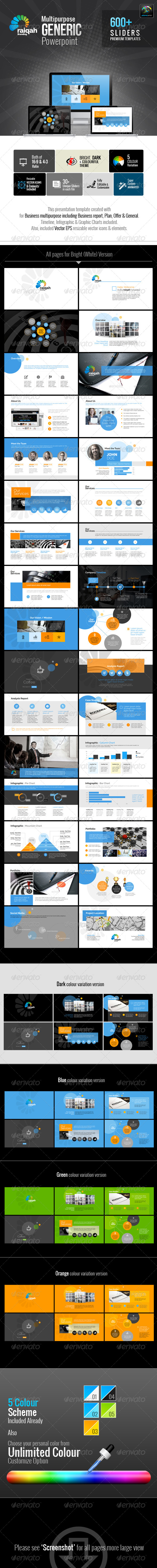 GraphicRiver Raiqah Multipurpose Generic Template 7258670