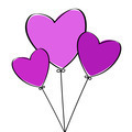 Three Heart Balloons - PhotoDune Item for Sale