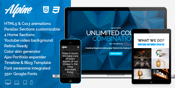 ThemeForest Alpine Wordpress Responsive One Page Parallax 7191059