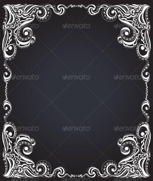 GraphicRiver Template Frame Design for Card Floral Pattern 7258888