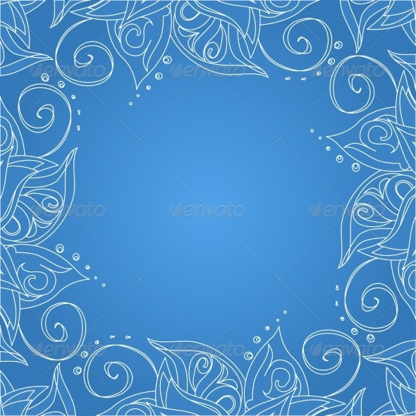 GraphicRiver Blue Background with Floral Ornament 7258898