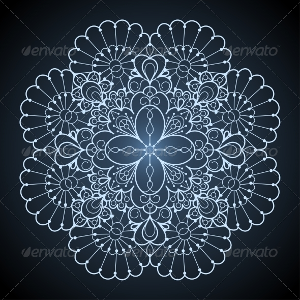 GraphicRiver Ornamental Round Lace Pattern 7258928