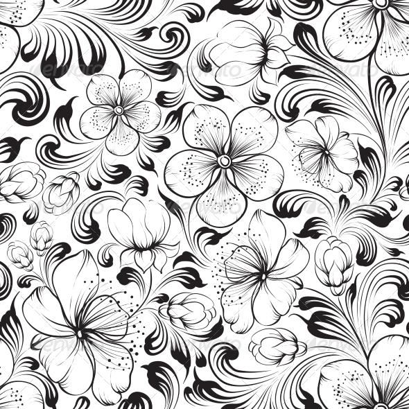 GraphicRiver Sakura Seamless Pattern 7258988