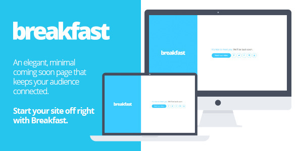 ThemeForest Breakfast A minimal HTML5 coming soon page 7198937