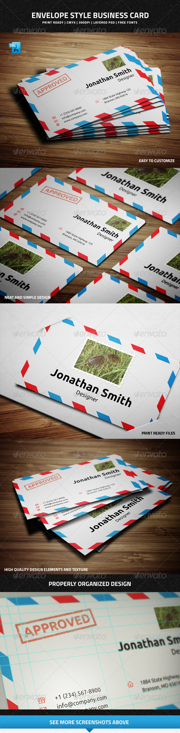 GraphicRiver Envelope Style Business Card 7225817