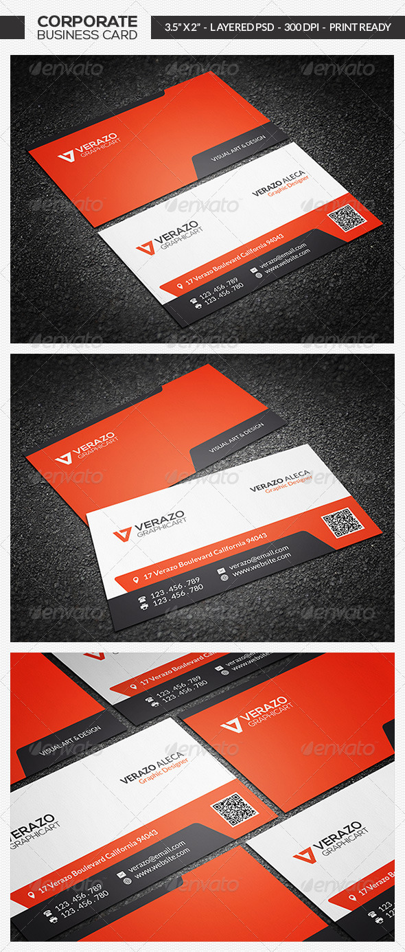 GraphicRiver Corporate Business Card 14 7259302