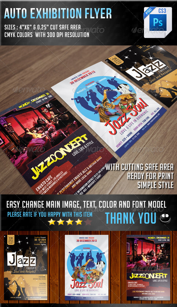 GraphicRiver Jazz Concert Flyer Bundle 7200757