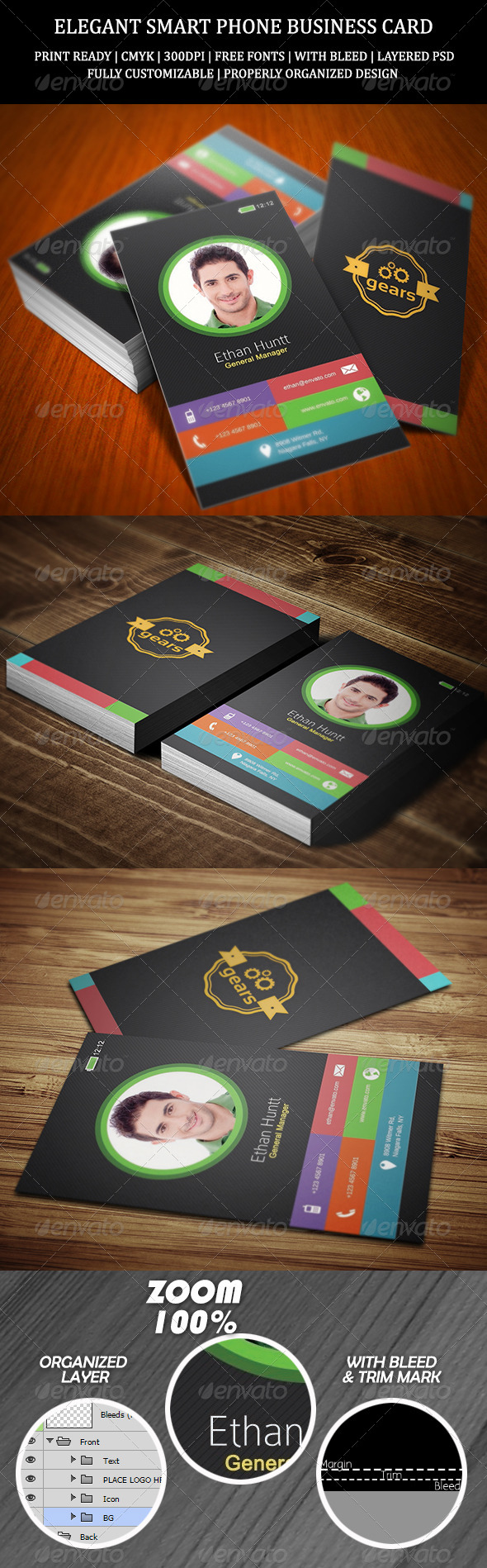 GraphicRiver Elegant Smart Phone Business Card 7259390