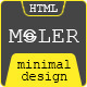 Moler - Minimal Full Screen PSD Template