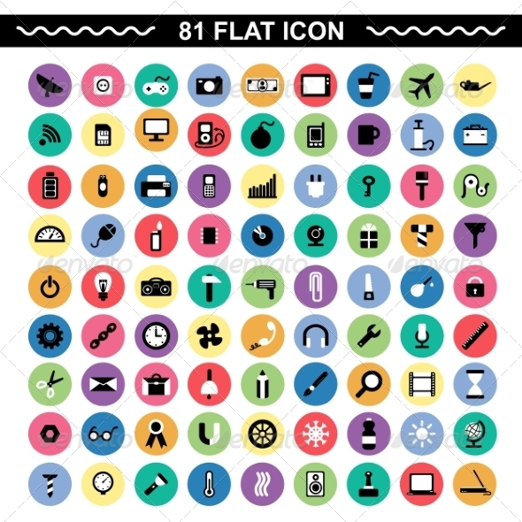 GraphicRiver Flat Icons 7260079