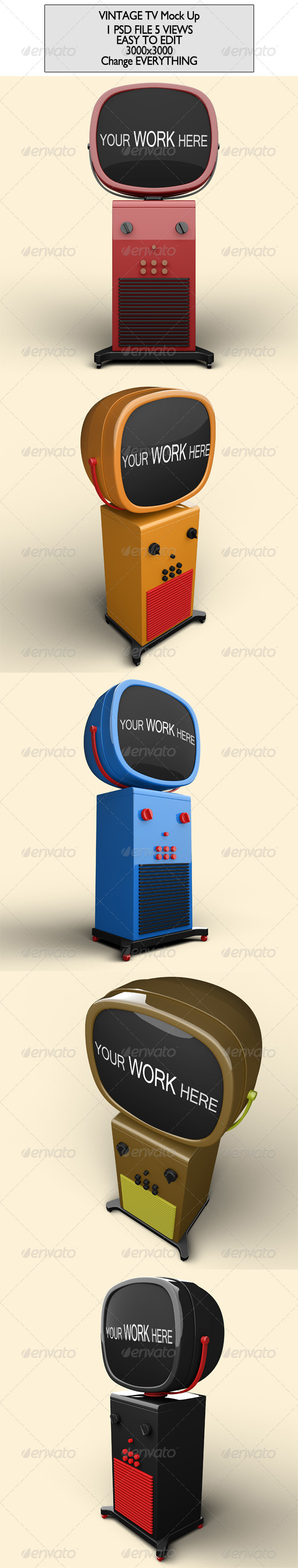GraphicRiver Vintage Tv Mock Up 7260112