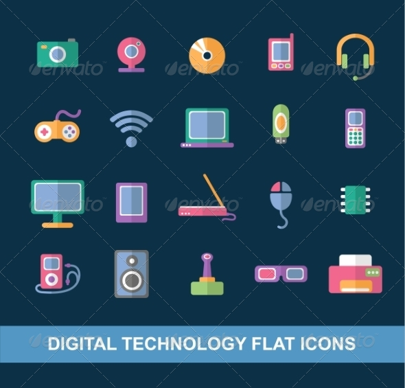 GraphicRiver Flat Icons 7260141